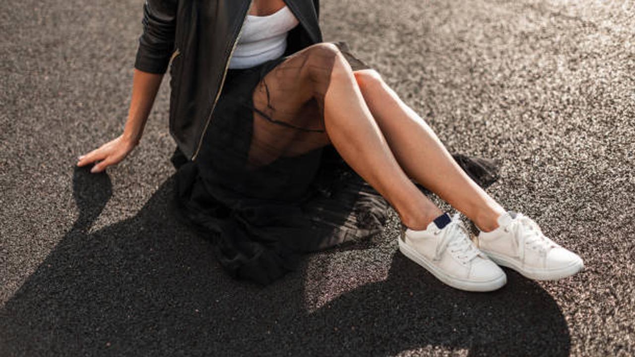 elegant-dress-with-sneakers
