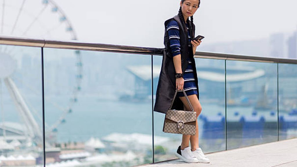 Midi Dress With Sneakers